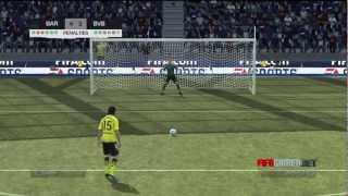FIFA 12 - Amazing Penalty Shootout. Barcelona v Dortmund [HD]