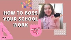 HOW TO BOSS YOUR SCHOOL WORK   High school/College Study Tips & Tricks   Tana Regal
