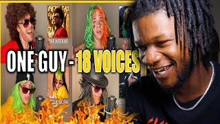 ONE GUY, 18 VOICES! (Post Malone, Britney Spears, Harry Styles & MORE) REACTION