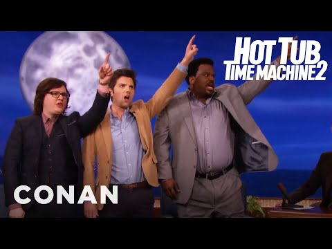 "The Cast Of ""Hot Tub Time Machine 2"" Breaks The Space-Time Continuum  - CONAN on TBS"