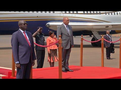 President Jacob Zuma arrives in Rwanda for the AU Summit