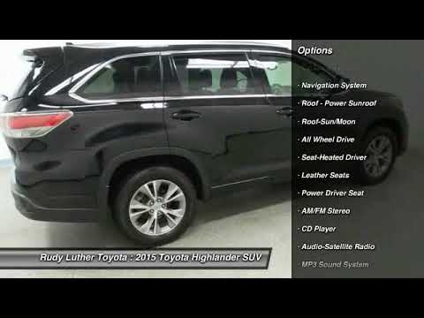 2015 Toyota Highlander Golden Valley,Minneapolis,Bloomington,MN W24409. Rudy  Luther Toyota