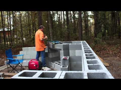 Brick oven backyard kitchen build