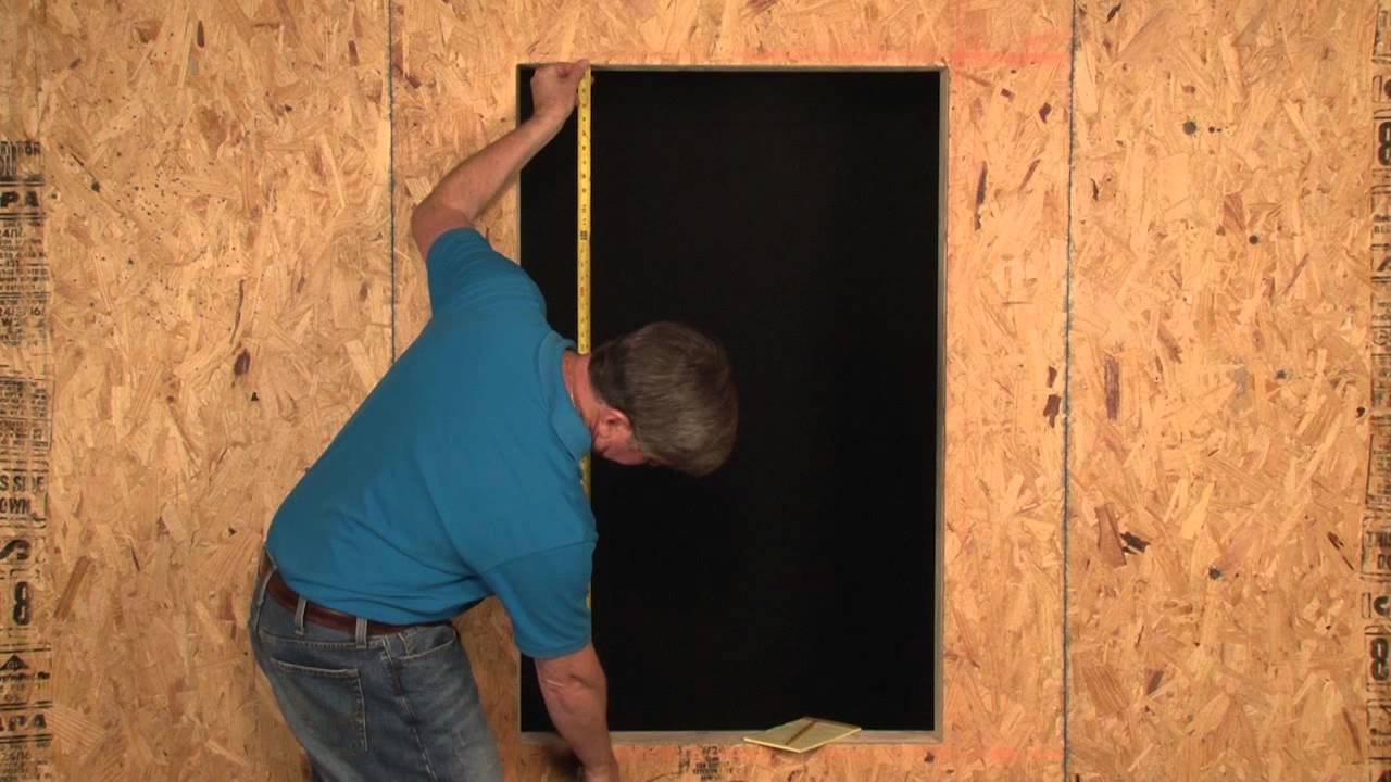 JELD-WEN: How To Measure for a New Construction Window (HD) - YouTube