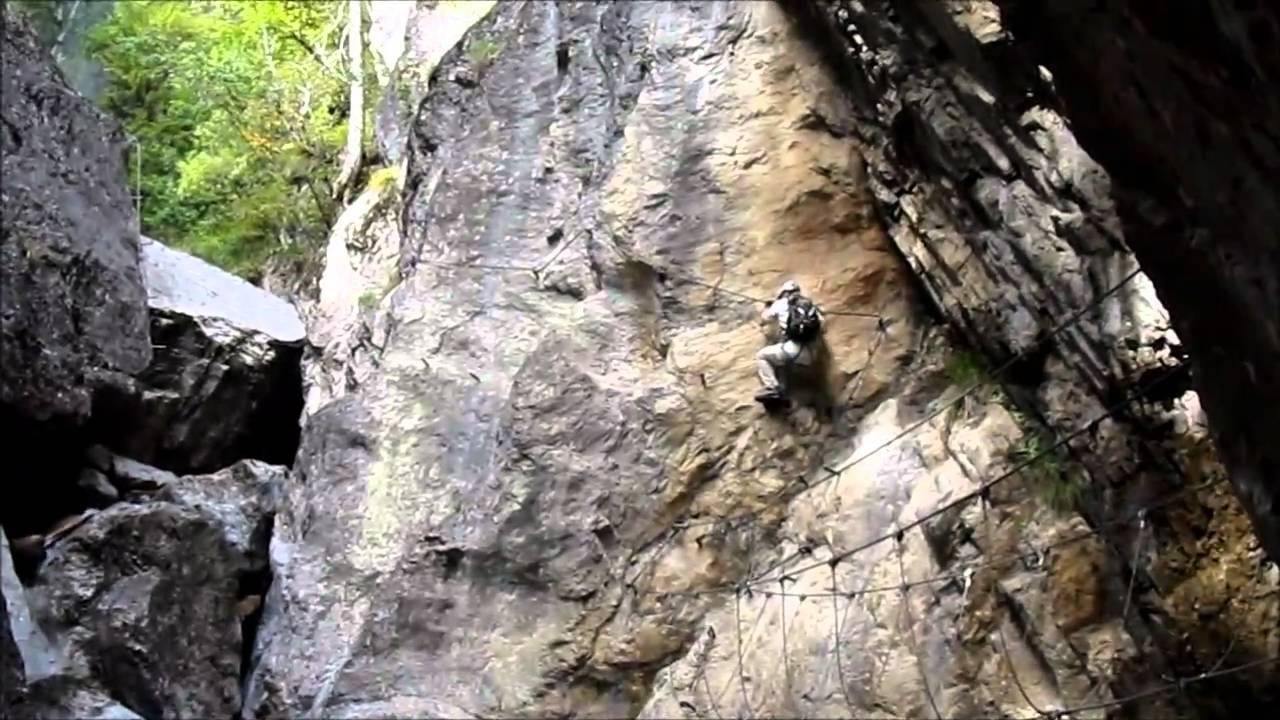 Klettersteig Oostenrijk : Klettersteig via ferrata pirknerklamm oostenrijk youtube