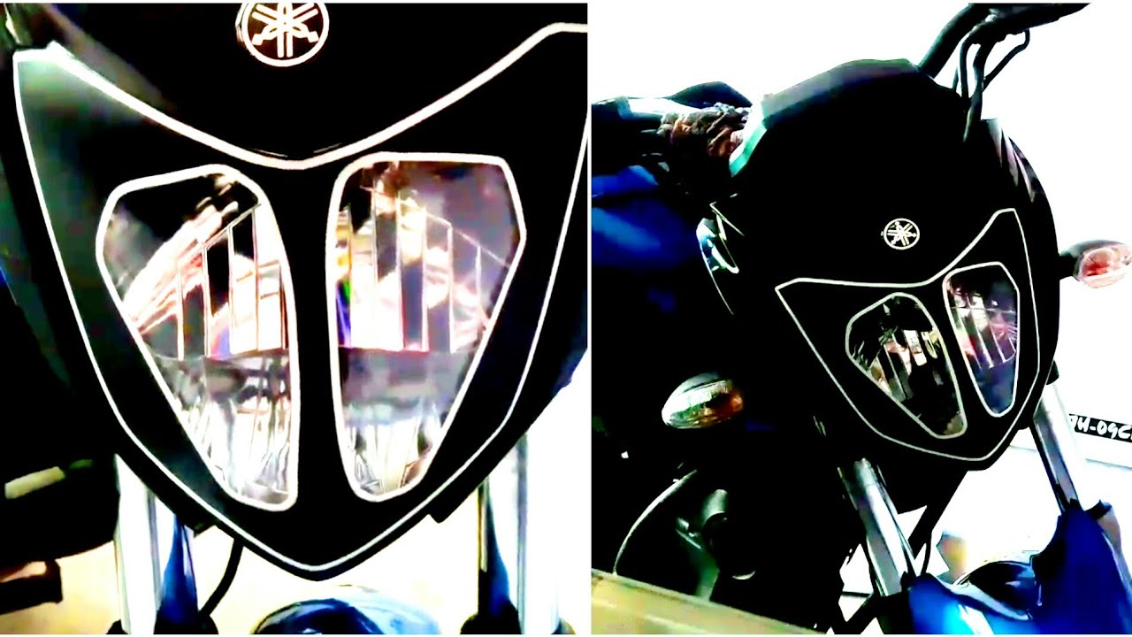 Avengers modify yamaha fz headlight modify from vinyl youtube