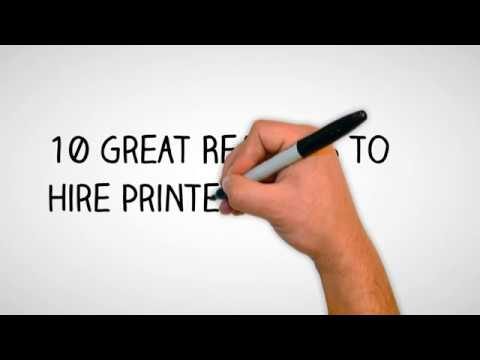 Office Printer Rentals: 10 Great Reasons to Hire Printers