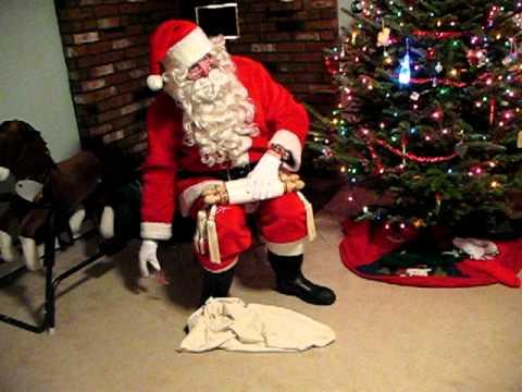 Santa visits our house
