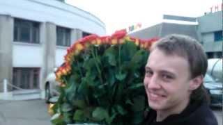 видео букет роз