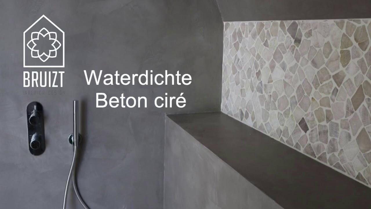 Betonlook badkamer met beton ciré - YouTube