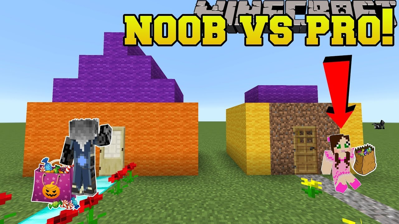 Minecraft: NOOB VS PRO!!! - Pumpkin Party - Mini-Game