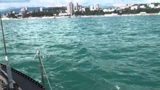 видео морская прогулка в Сочи
