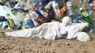 Artist To Use 100,000 Plastic Litter Bottles To 3D Print A 12-foot Long Madonna Statue For 2016
