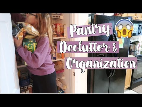 PANTRY DECLUTTERING & ORGANIZATION | Declutter, Organize & Clean With Me / Pantry Transformation
