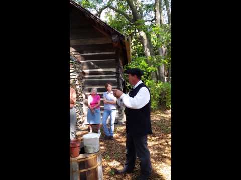 Naval Stores demonstration at the Shaw House