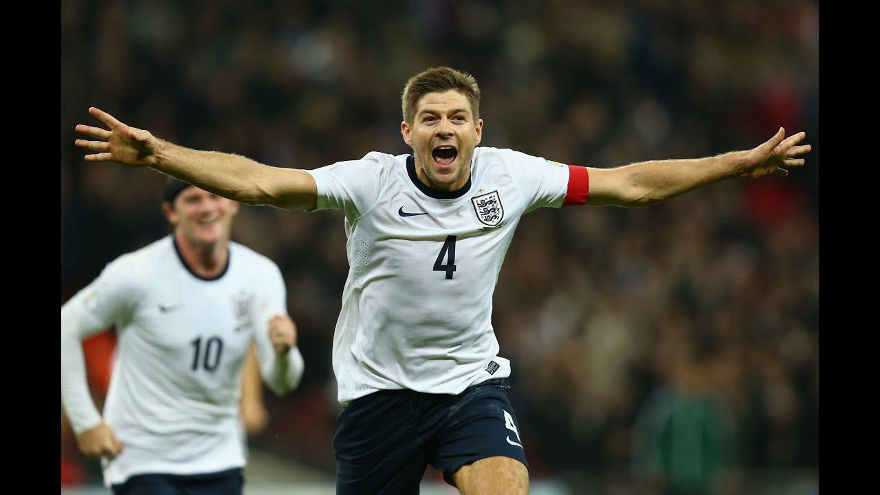 SLOMO CAM Steven Gerrard makes it 2 0 England vs Poland