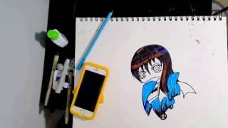 Yuki Onna (Nurarihyon no Mago) chibi drawing