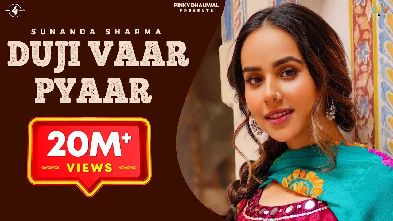 Download Duji Vaar Pyar | Sunanda Sharma | Sukh-E | Jaani | Arvindr K | Official Lyric Video | Mad 4 Music