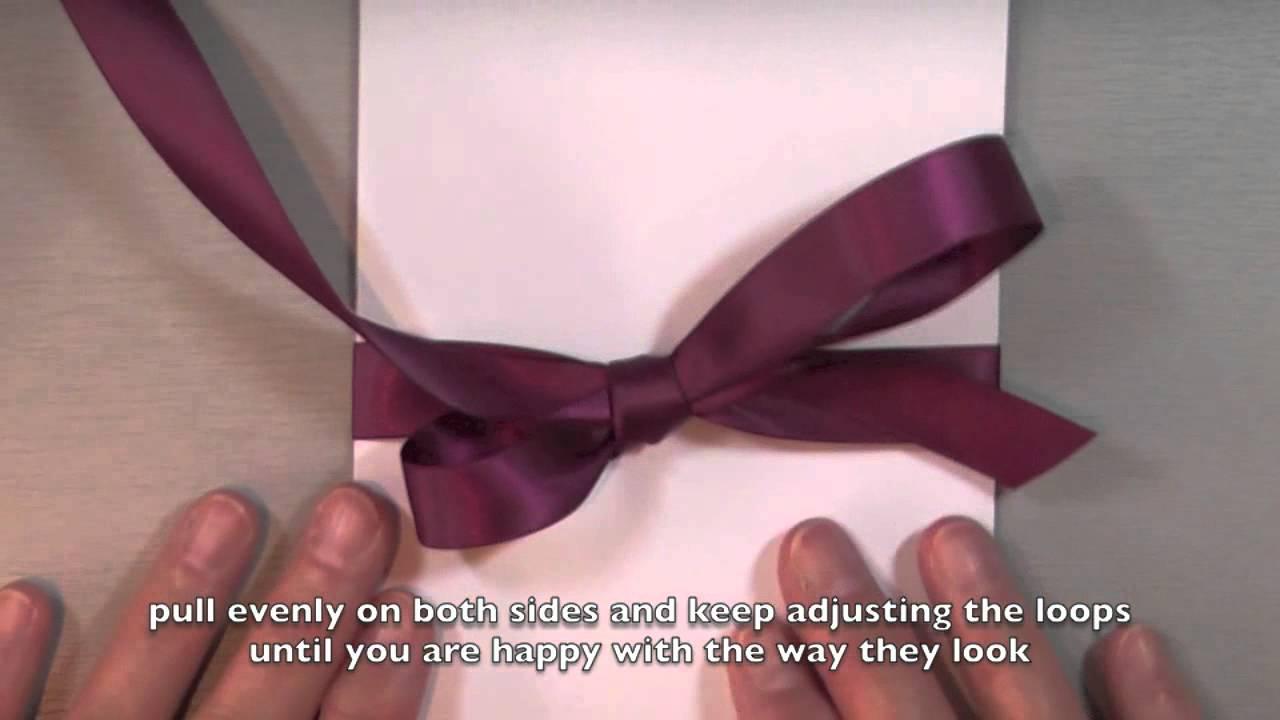 Otf faire de beaux noeuds et de belles boucles avec du - Faire un beau paquet cadeau ...
