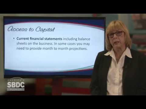 Florida SBDC Access to Capital Training Series: Preparing a Loan Package (5 of 6)