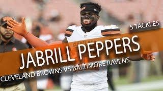 Video Jabrill Peppers Highlights vs Ravens // 5 Tackles // 9.17.17 download MP3, 3GP, MP4, WEBM, AVI, FLV November 2017