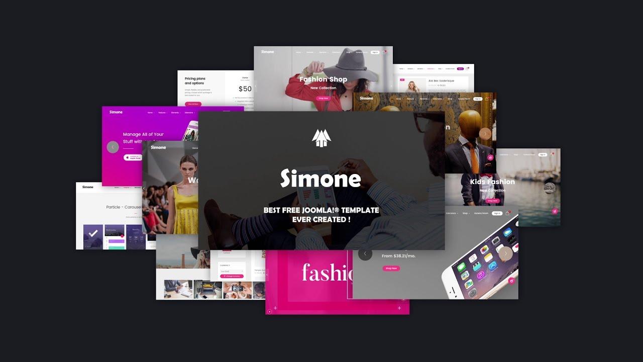 Free Joomla Templates - Simone - Gantry 5 Template - YouTube