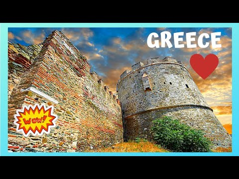 GREECE: Stunning ancient defensive walls 🏰 in Thessaloniki, 17 centuries old!
