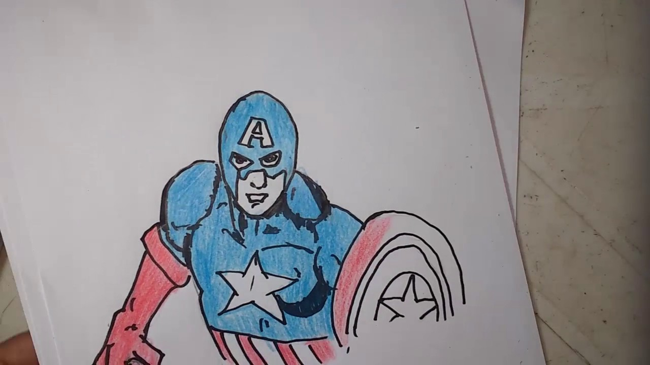 Como Desenhar Escudo Do Capitao America How To Draw The Shield Of