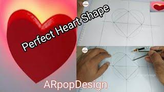 Dil ka marking kaise kare how to mark heart shape pop design दिल का मार्क|by ARpopDesign