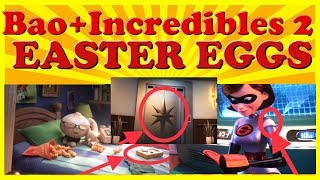 Bao + Incredibles 2 EASTER EGGS! - Pixar Movie Hidden Design Secrets Revealed!