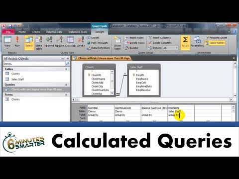 Create Queries with Calculated Fields and Aggregate Functions