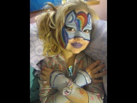 Rainbow Pony Face painting by Snowqueen