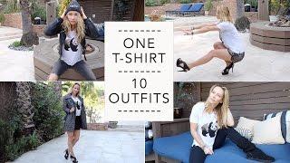 One T-Shirt 10 Outfits Fashion Haul