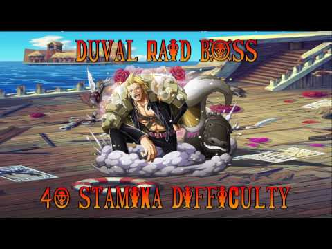 OPTC - Duval Raid Boss - 40 Stamina - Raid Kuma Cerebral Team