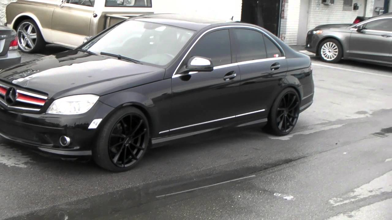 877 544 8473 kmc km691 spin all black wheels 2010 mercedes for Mercedes benz c300 black rims