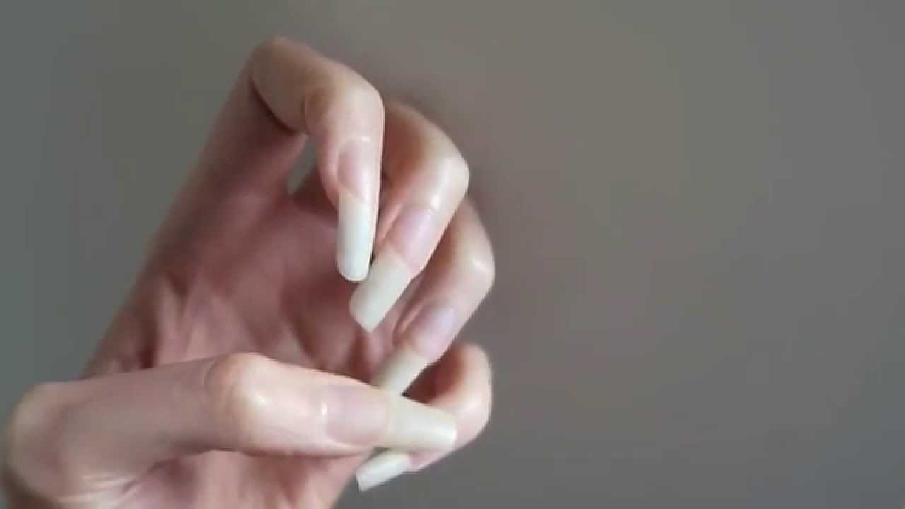 Natural Long Nails - YouTube