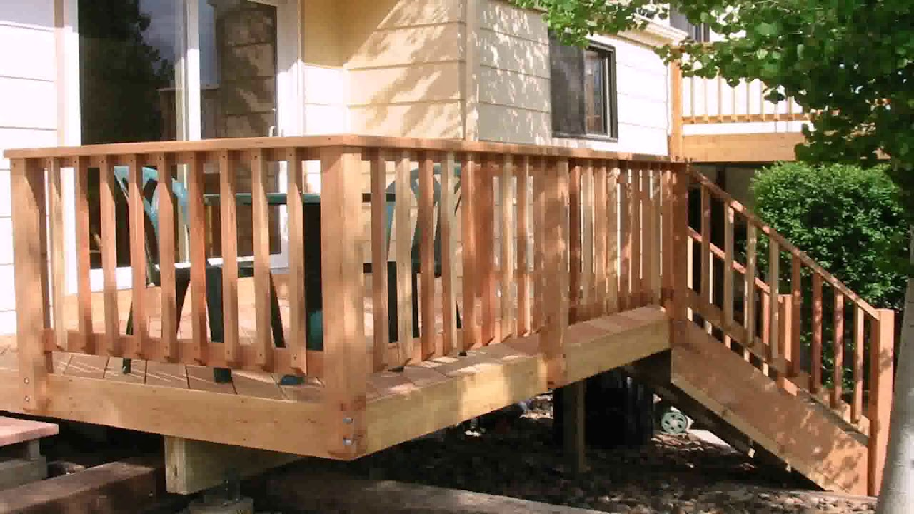 Wooden Railing Designs For Balcony - YouTube