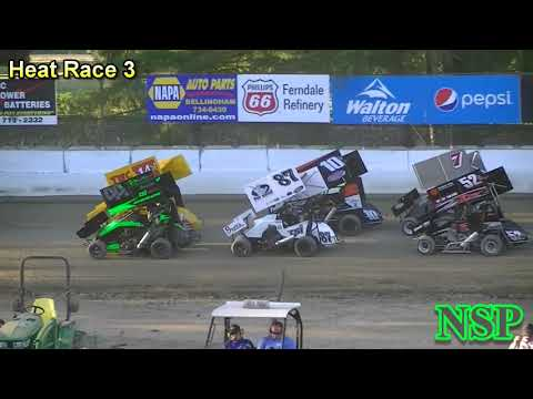 July 14, 2017 Clay Cup Nationals 600 Restricted Mini Sprints Heat Races 1, 2, 3 & 4 Deming Speedway