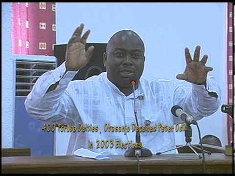 Peter Odili Scammed by Obasanjo,Onii of Ife & 401 Deities in 2003 Elections