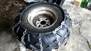 видео Антипробуксовочная цепь «Лесенка-эконом»