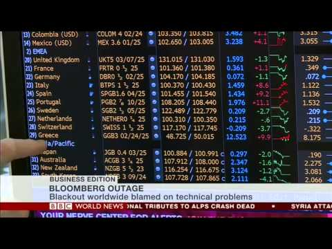 Bloomberg outage chat on World News TV. Joe Lynam & Jamie Robertson