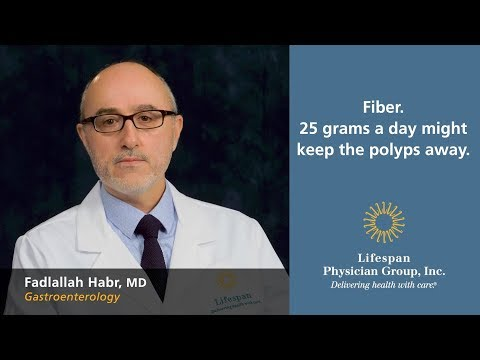 Fiber. 25 grams a day might keep the polyps away.