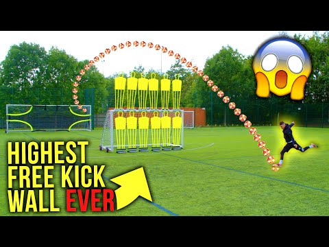 WORLDS HIGHEST FREE KICK WALL CHALLENGE  | F2Freestylers