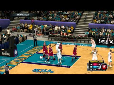 NBA 2K12 Chicago Bulls vs. New Orleans Hornets 1080p Season - Game 2/82
