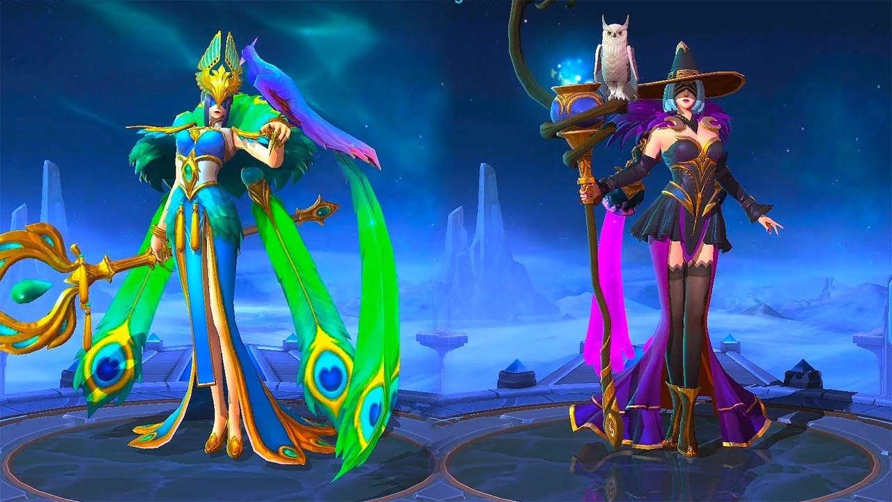 Pharsa Enchanting Witch Skin vs Peafowl's Dance Skin Mobile ...