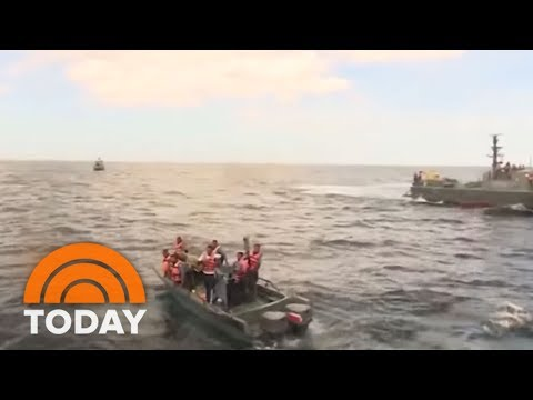 Elephant Stranded At Sea Get Rescued By Sri Lankan Navy | TODAY