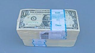 Unboxing $1000 BRICK $1 One Dollar Bills