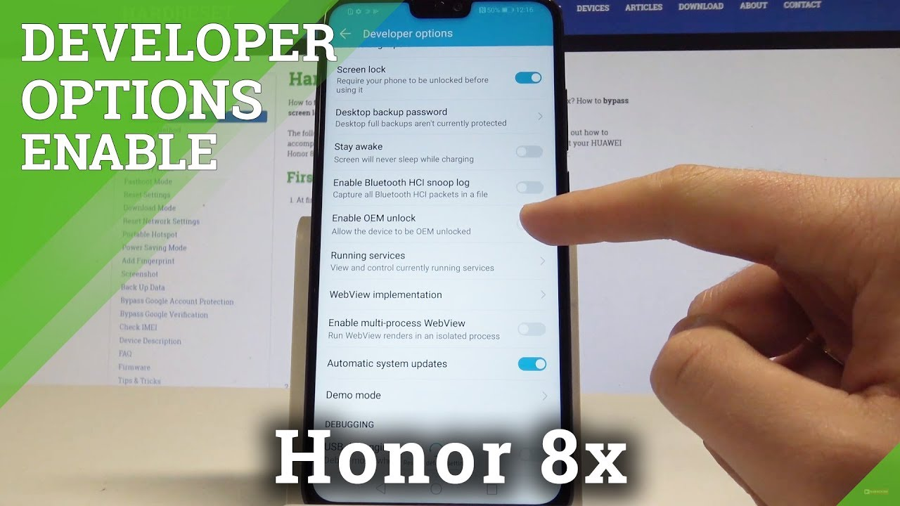 How to Enable Developer Options on Honor 8x - Allow OEM Unlocking