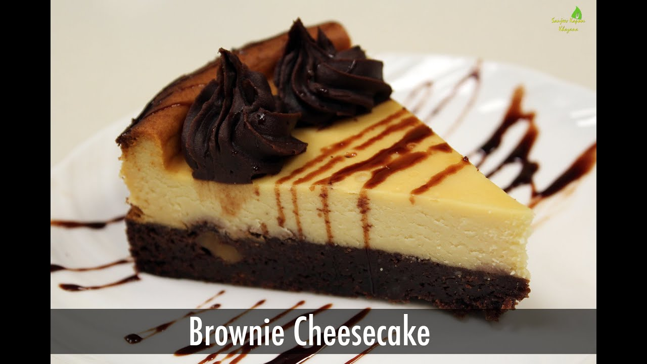 Brownie cheesecake cake recipes sanjeev kapoor khazana youtube forumfinder Images