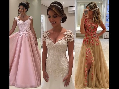 4e9db05cfd51 The Most Beautiful Prom & Wedding Dresses In The World - YouTube